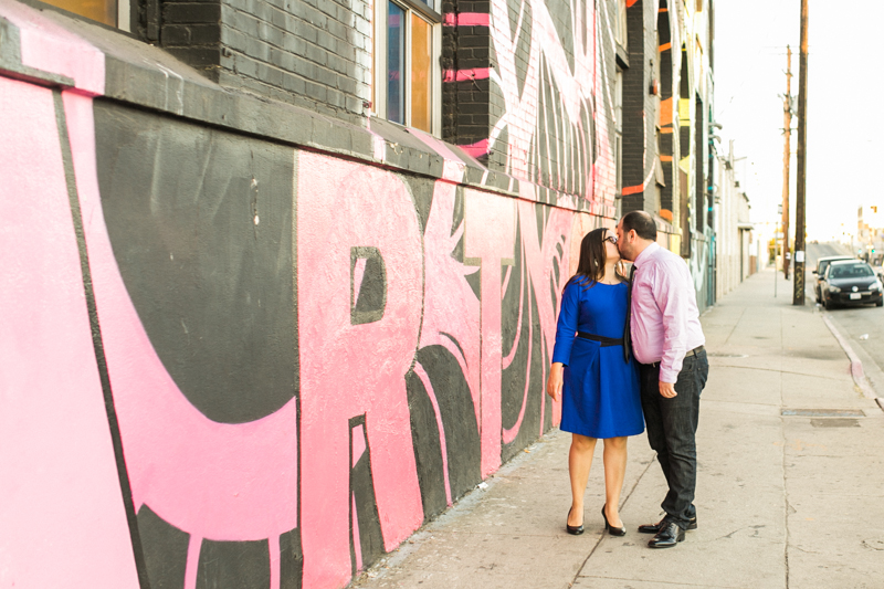 Downtown LA arts district urban graffiti engagement session