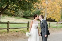 LA fall colors outdoor intimate park wedding