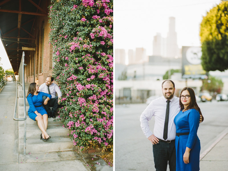 Downtown Los Angeles Arts District engagement session by Jessica Schilling