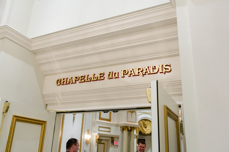 Paris Hotel wedding photographer at chapelle Du Paradis