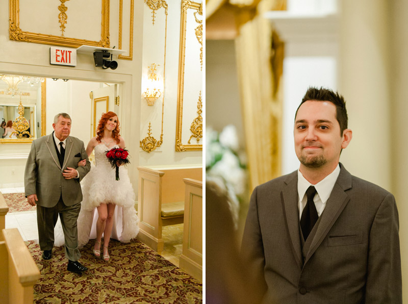 Paris Hotel wedding chapel ceremony