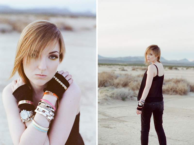 Dreamy cool fashion photography in the Las Vegas desert