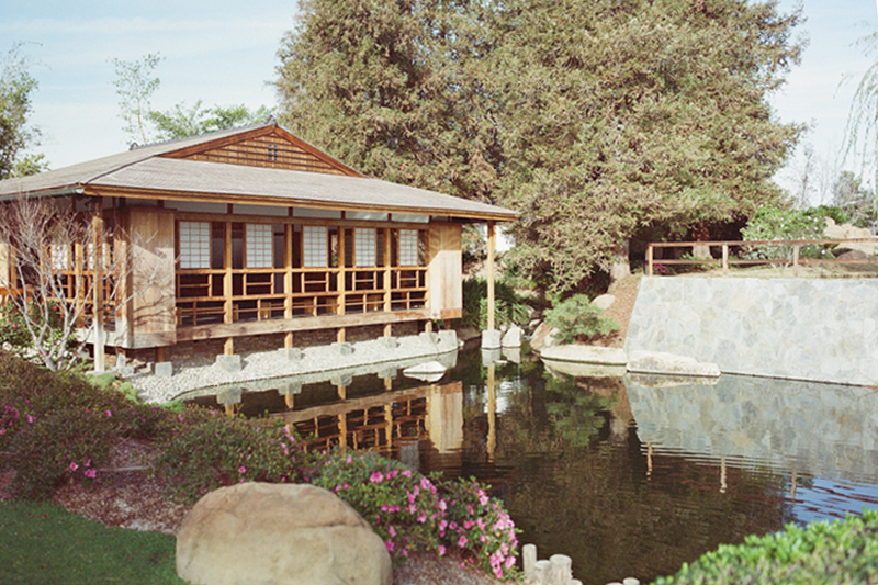 Los Angeles Japanese Gardens Tea house with shoji screens