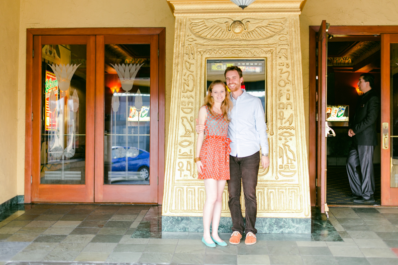Art Deco Vintage Vista Theater engagement photos