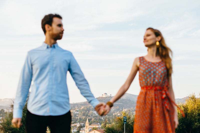Los Angeles modern, natural, artistic engagement photography