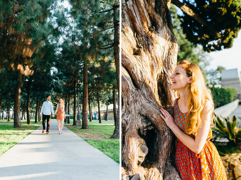 Los Angeles Barnsdall Art Park engagement photographer Jessica Schilling