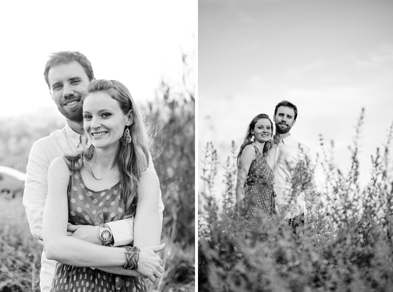 Los Angeles modern artistic black and white engagement photography