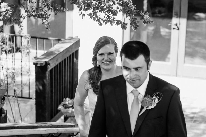 Los Angeles wedding photography - bride and groom first look