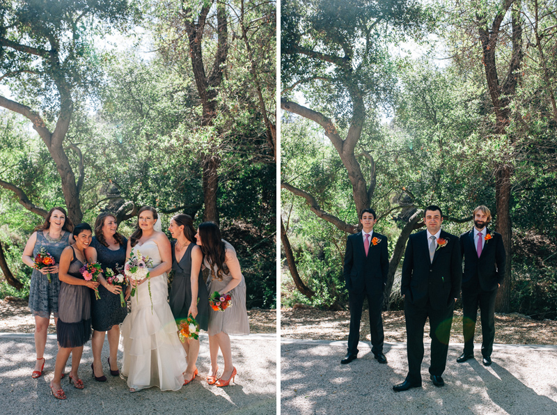 Los Angeles indie wedding photographer bridal party group shots