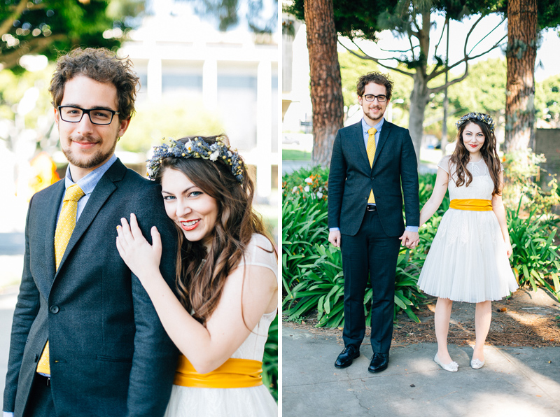LA modern cool elopement photography