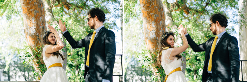LA quirky fun hipster courthouse elopement photography
