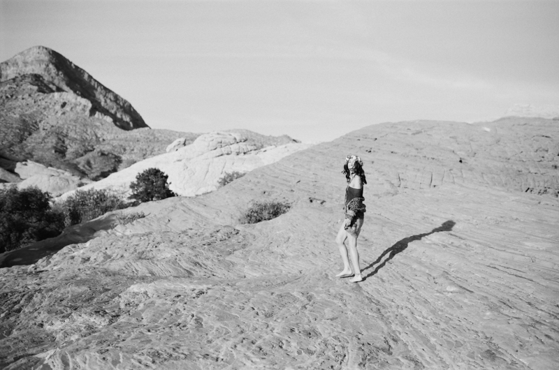 Badass black and white desert portraits on 35mm film