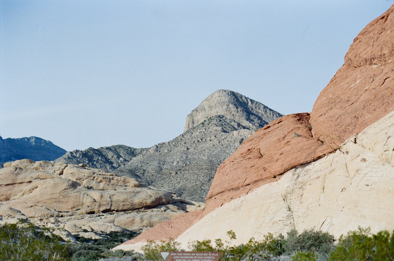 Red Rock Canyon park in Nevada outside of Las Vegas 35mm film