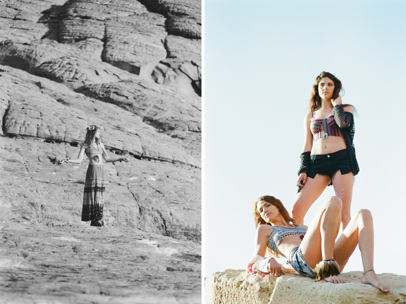 Hippie bohemian fashion photography Red Rock Canyon desert