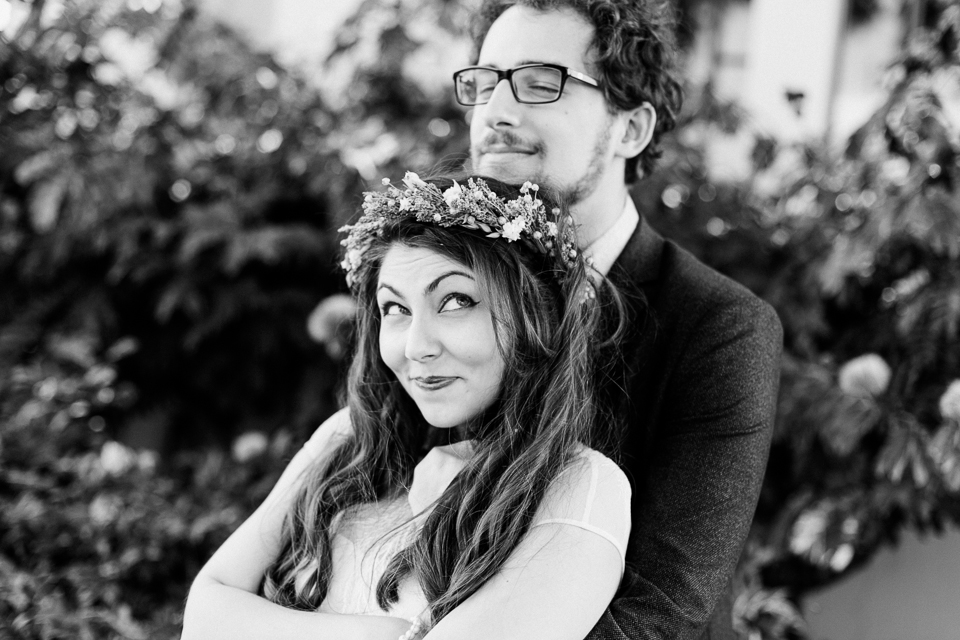 Beverly Hills fun, quirky, hipster wedding photography
