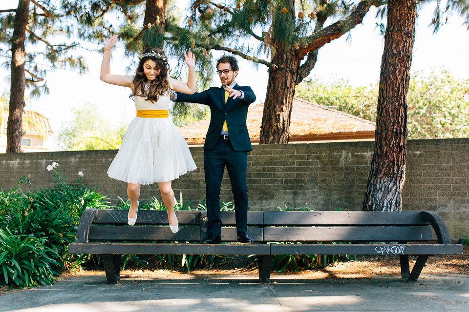 Beverly Hills courthouse fun elopement photos