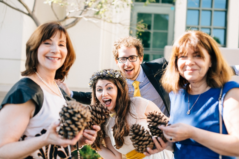 Quirky, fun, silly indie wedding photos Los Angeles