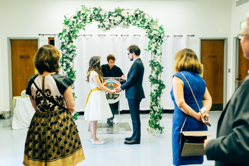 Beverly HIlls courthouse wedding ceremony