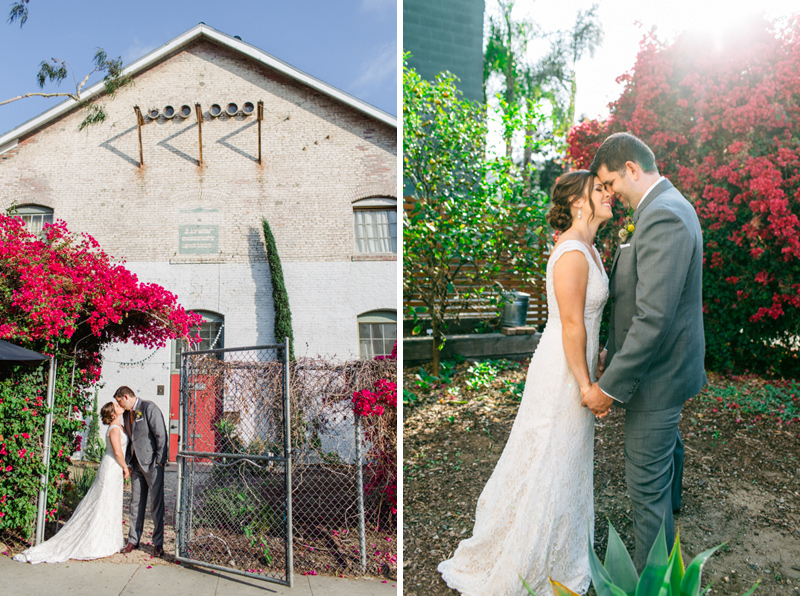 Los Angeles wedding photography at unique venue Huron Substation