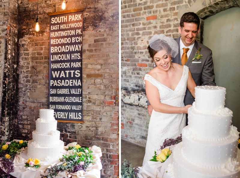 Modern romantic wedding at Huron Substation cool loft venue