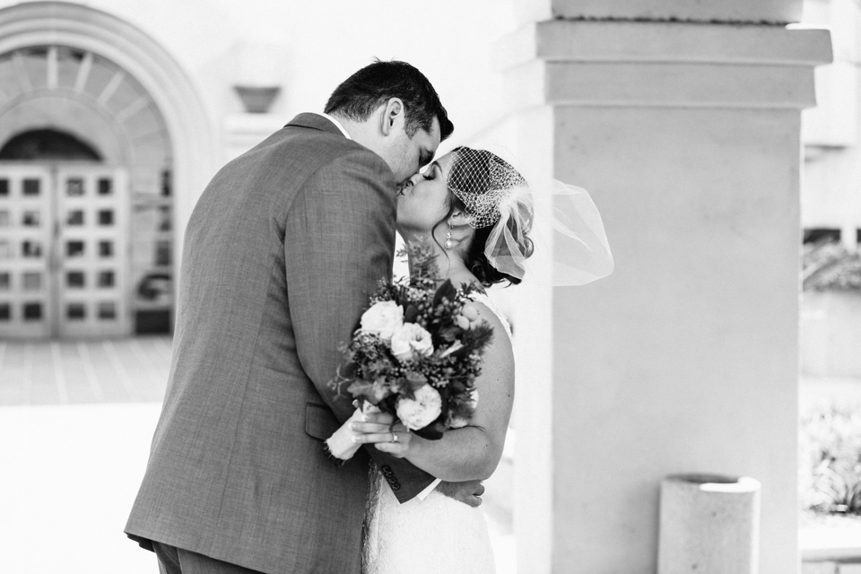 Los Angeles Pasadena modern romantic wedding photography