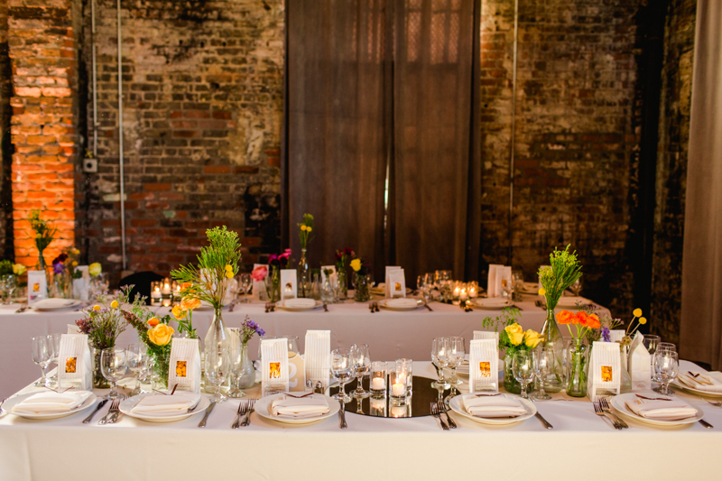 Huron Substation wedding reception