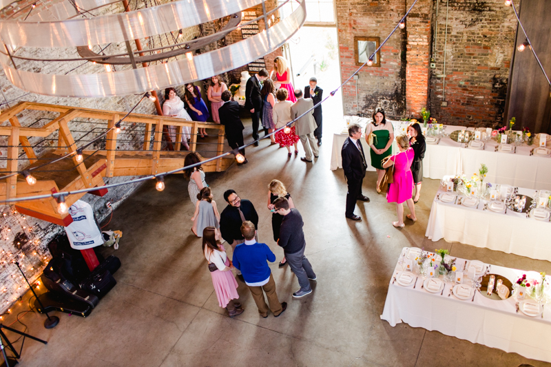 Huron Substation venue - modern rustic industrial chic loft wedding reception