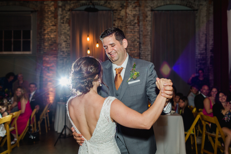 First dance. Huron Substation wedding reception photography