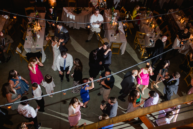 Huron Substation Los Angeles wedding photography. dancing at reception