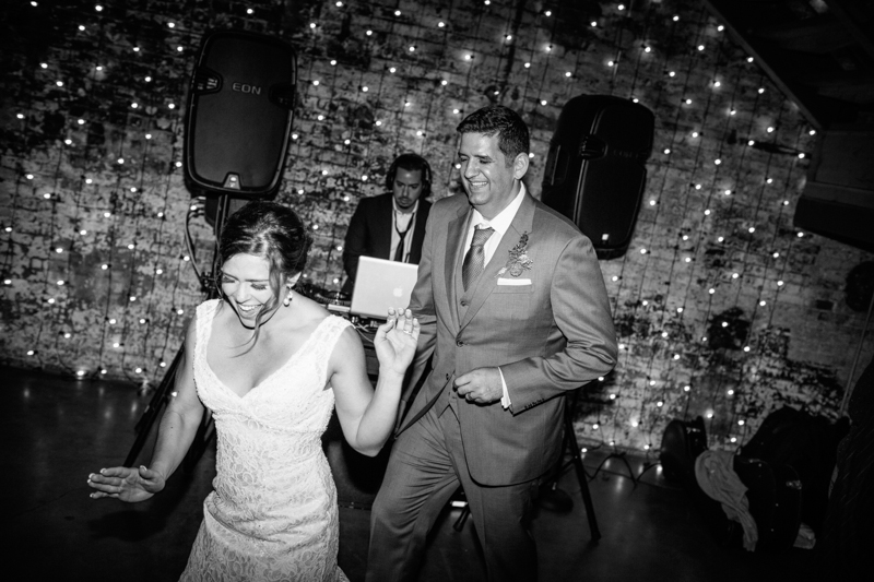 Huron Substation wedding reception photography