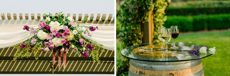 unity wine mixing for vineyard wedding ceremony
