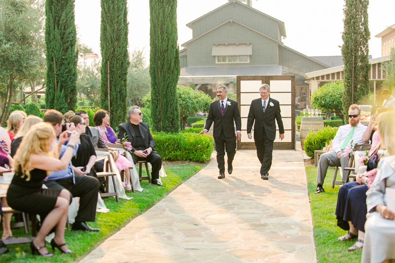 Ponte family estate vineyard wedding