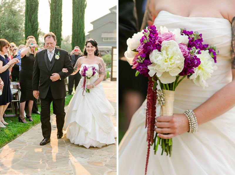 romantic modern vineyard wedding at Ponte Winery temecula