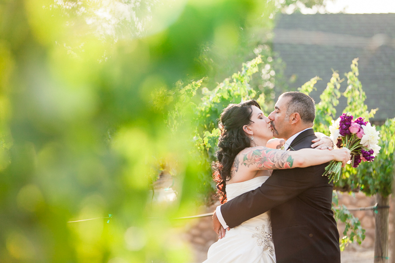 Romantic SoCal vineyard wedding photography