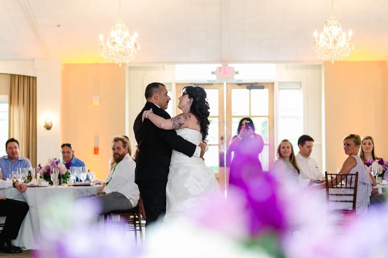 Modern vineyard wedding reception