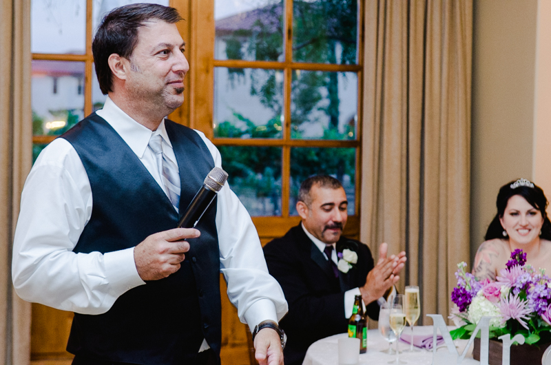 Ponte Winery wedding reception photographer