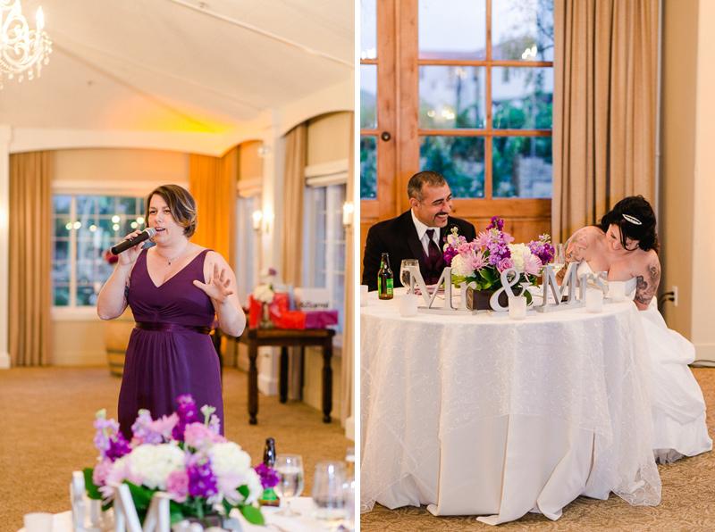 Ponte family estate wedding reception