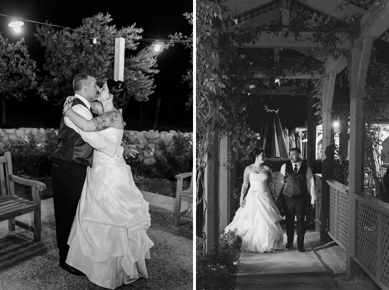Ponte Family Winery night time wedding photography