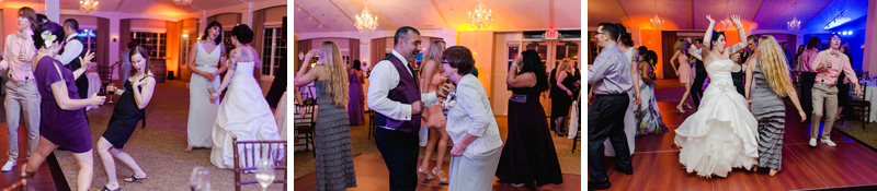 modern fun dancing at wedding reception