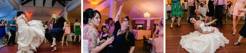 rock n roll wedding reception photography