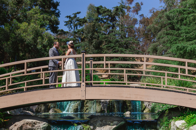 Beautiful romantic scenery bridge at Grace Simons Lodge wedding Los Angeles