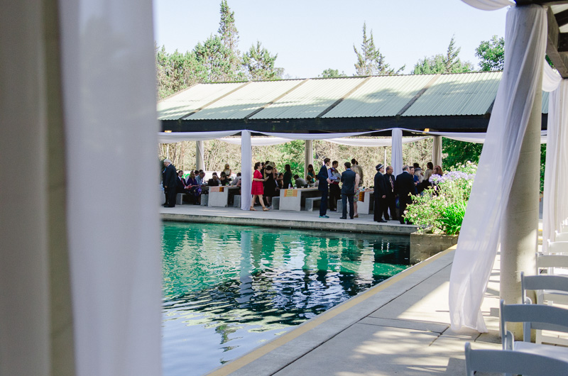 Wedding ceremony at Grace Simons Lodge Pavillions