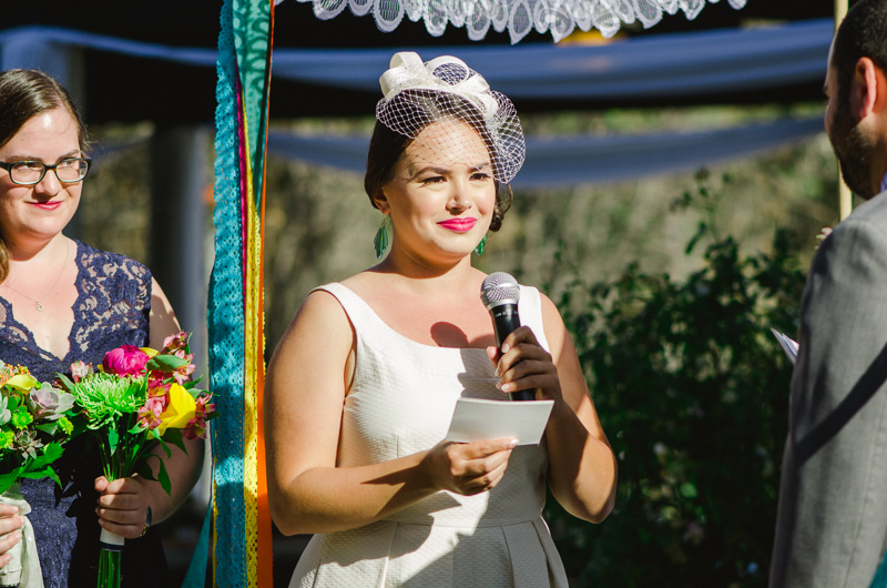 Modern colorful outdoor Elysian Park wedding photography
