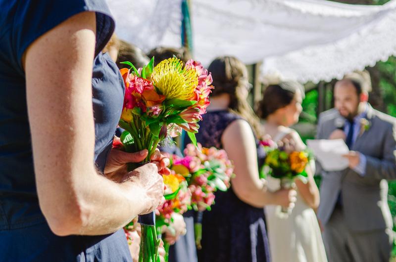 Los Angeles modern colorful Jewish wedding ceremony