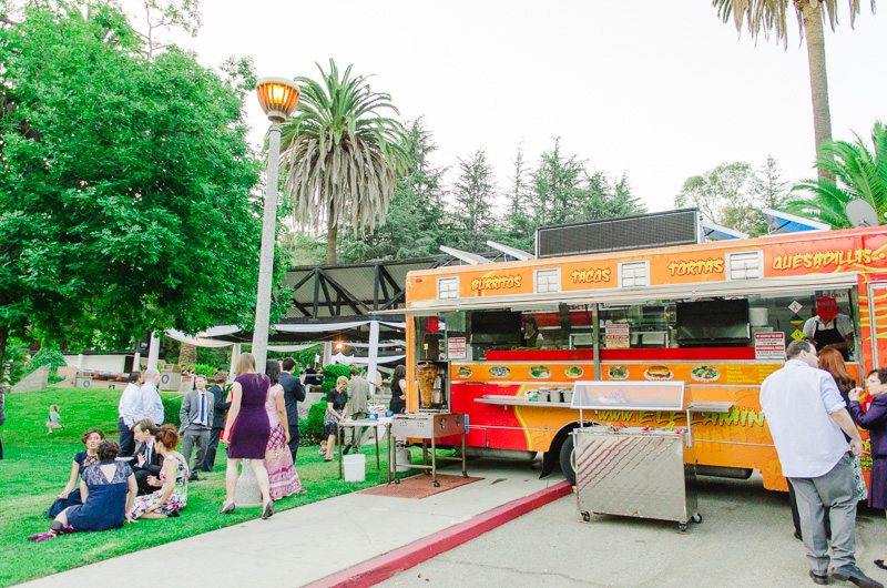 Los Angeles modern wedding trend - food truck catering for reception