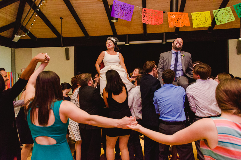 Los Angeles Hora dance at modern Jewish wedding reception