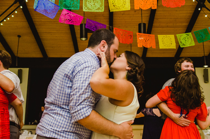 colorful Mexican decor at modern Los Angeles wedding