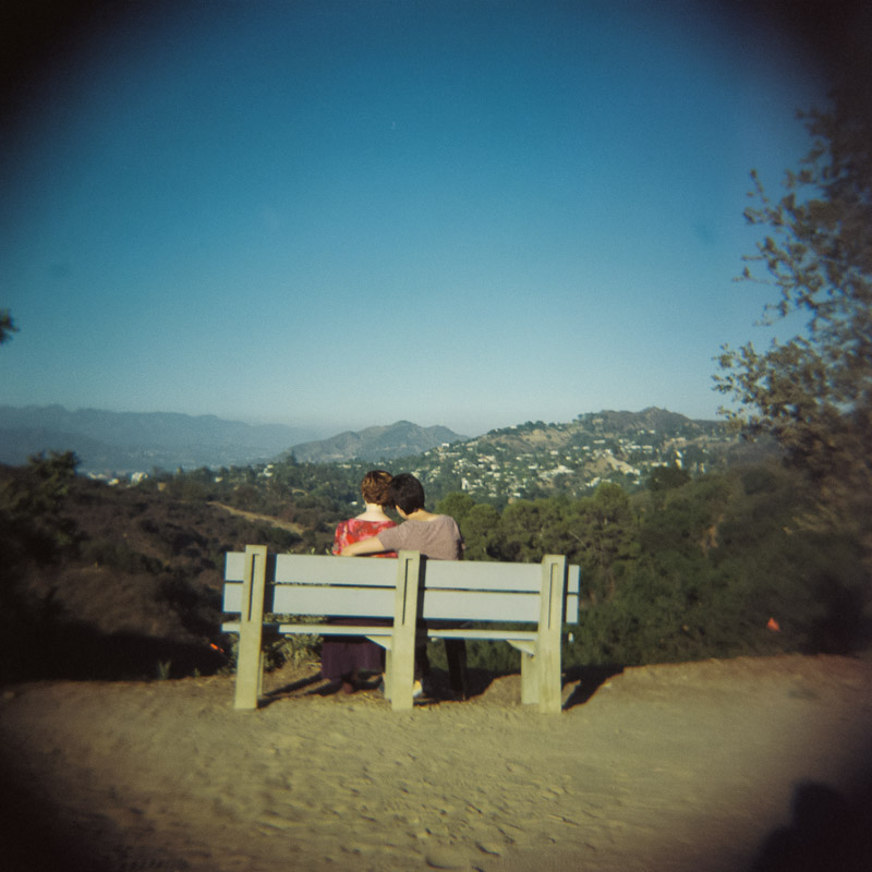 Los Angeles Tree People Park engagement holga toy camera film photographer