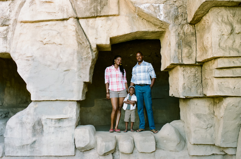 Los Angeles. Modern lifestyle family photography. 35mm film at Old Zoo in Griffith Park.