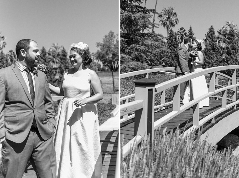 Grace Simons Lodge footbridge first look bride and groom
